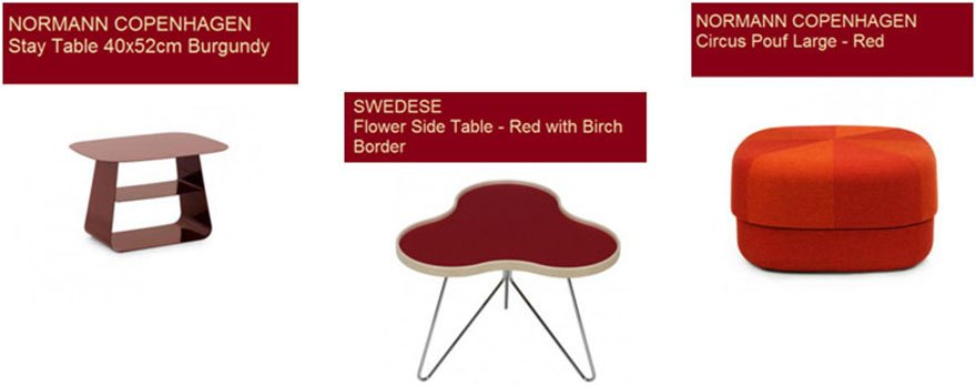 Marsala Side Table Pouf