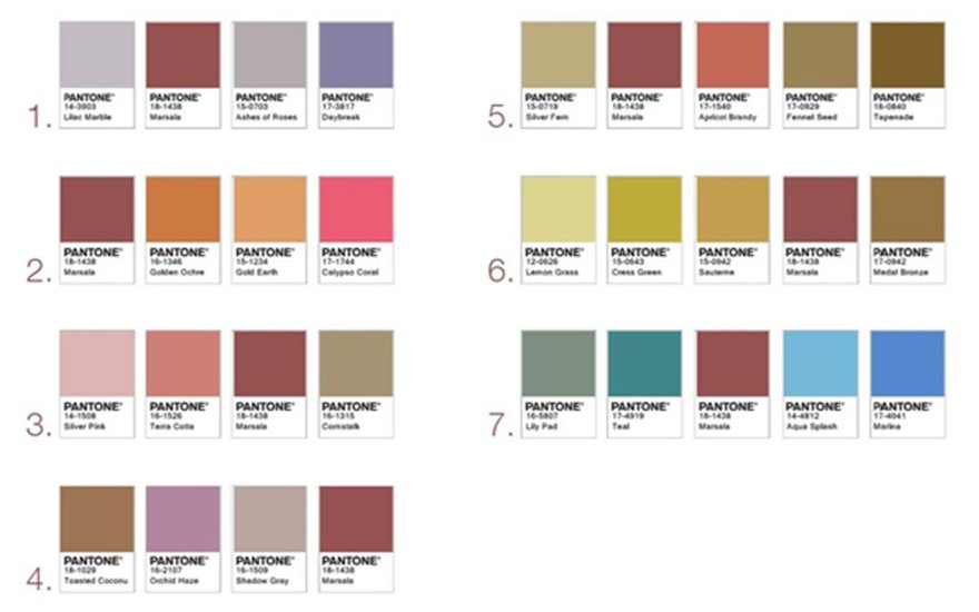 Marasala Pantone Color