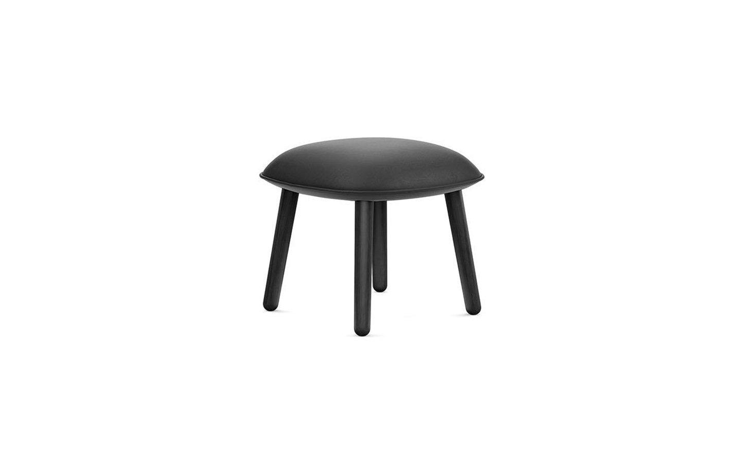 Ace Footstool by Normann Copenhagen Ultra Leather 41599 (Black) Painted Oak