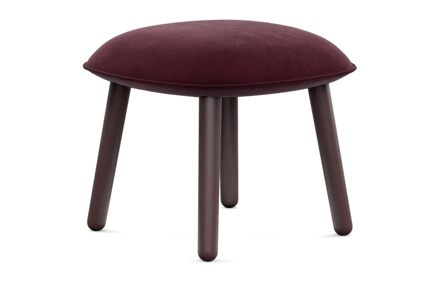 Ace footstool – velour – dark red
