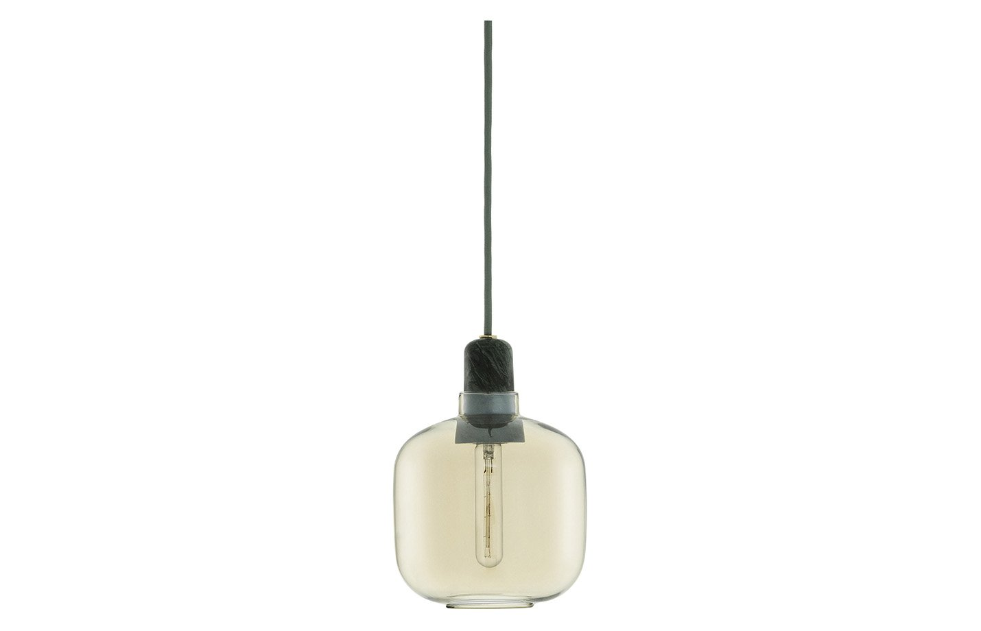 Amp Lamp Pendant – Small – Gold Green