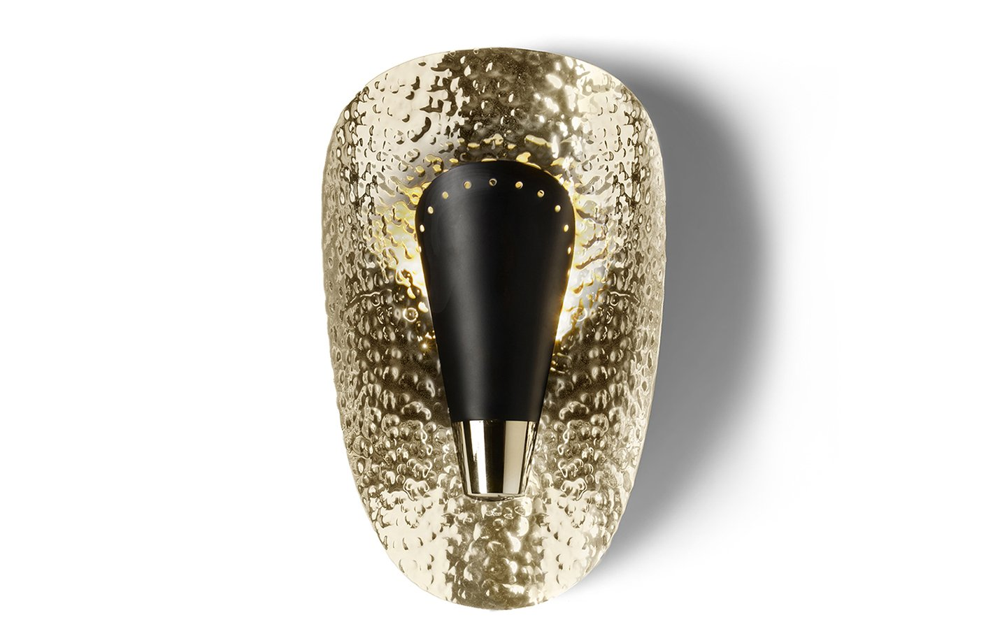 Aruna wall lamp – gold – black