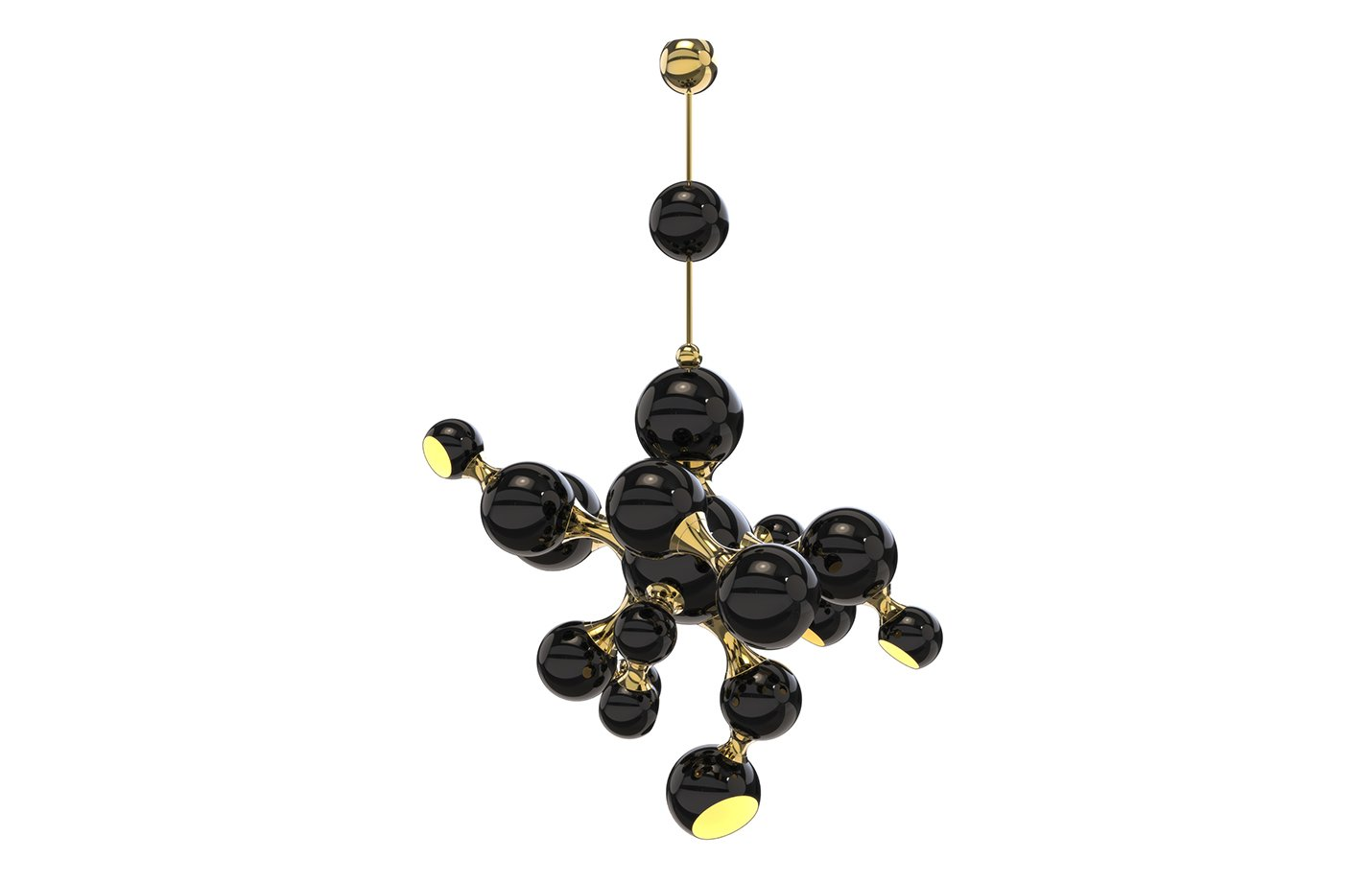 Atomic Pendant Light – Black – Gold