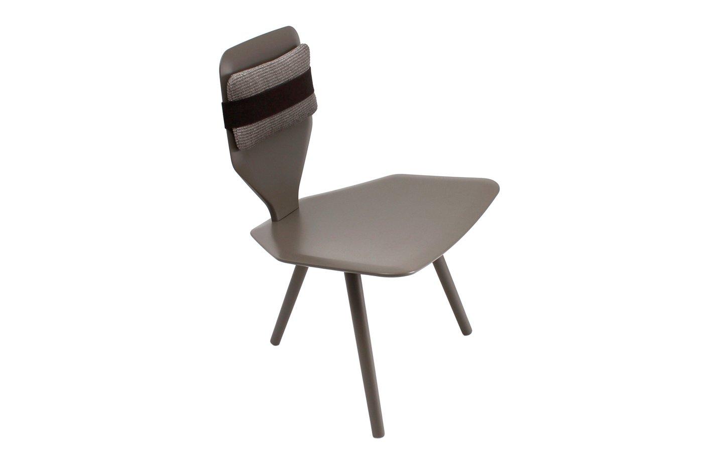 Bavaresk low chair – leather – grey