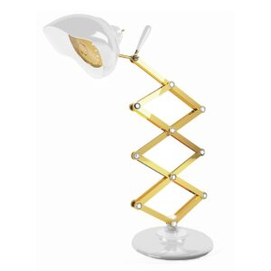 Billy table lamp - White - Gold