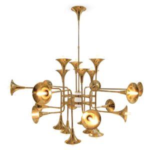 Botti Chandelier Light - Gold