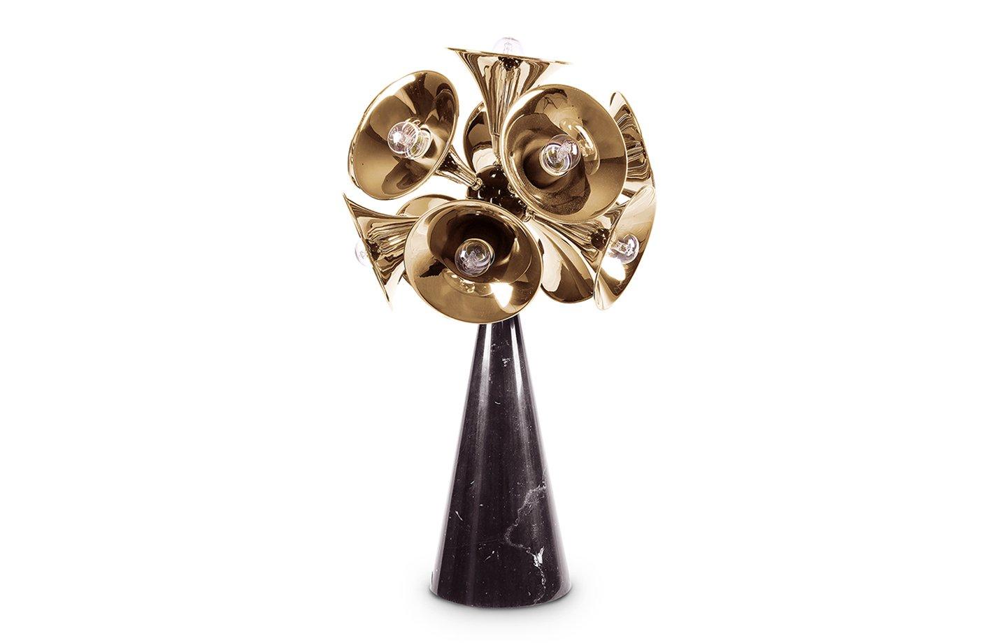 Botti table lamp – black – gold