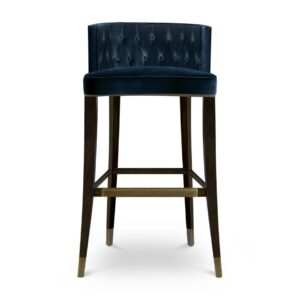 Bourbon bar chair - dark blue