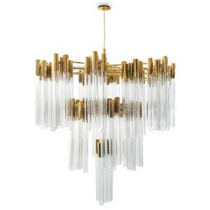 Burj chandelier light crystal - Gold