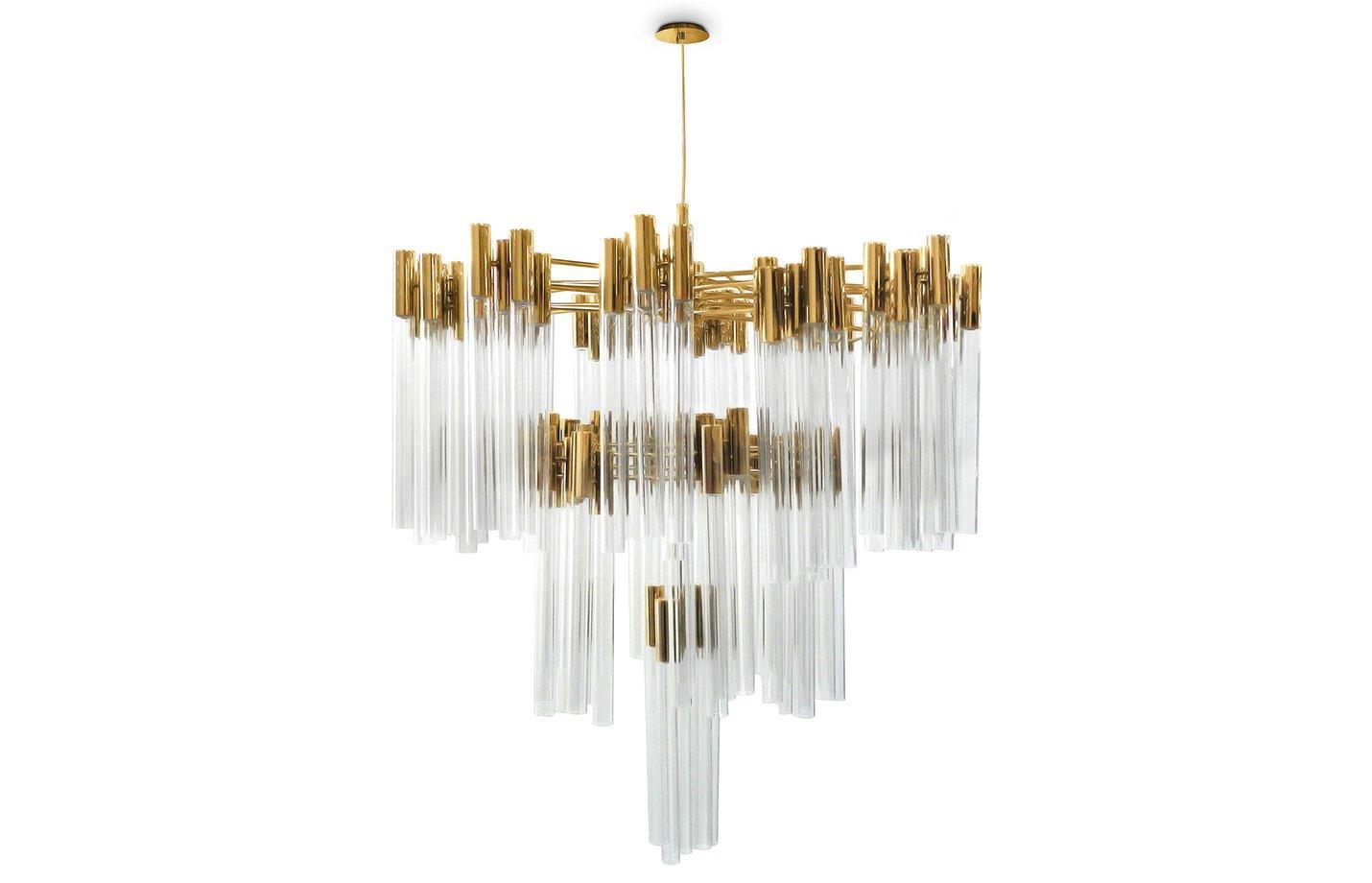 Burj chandelier light crystal – Gold