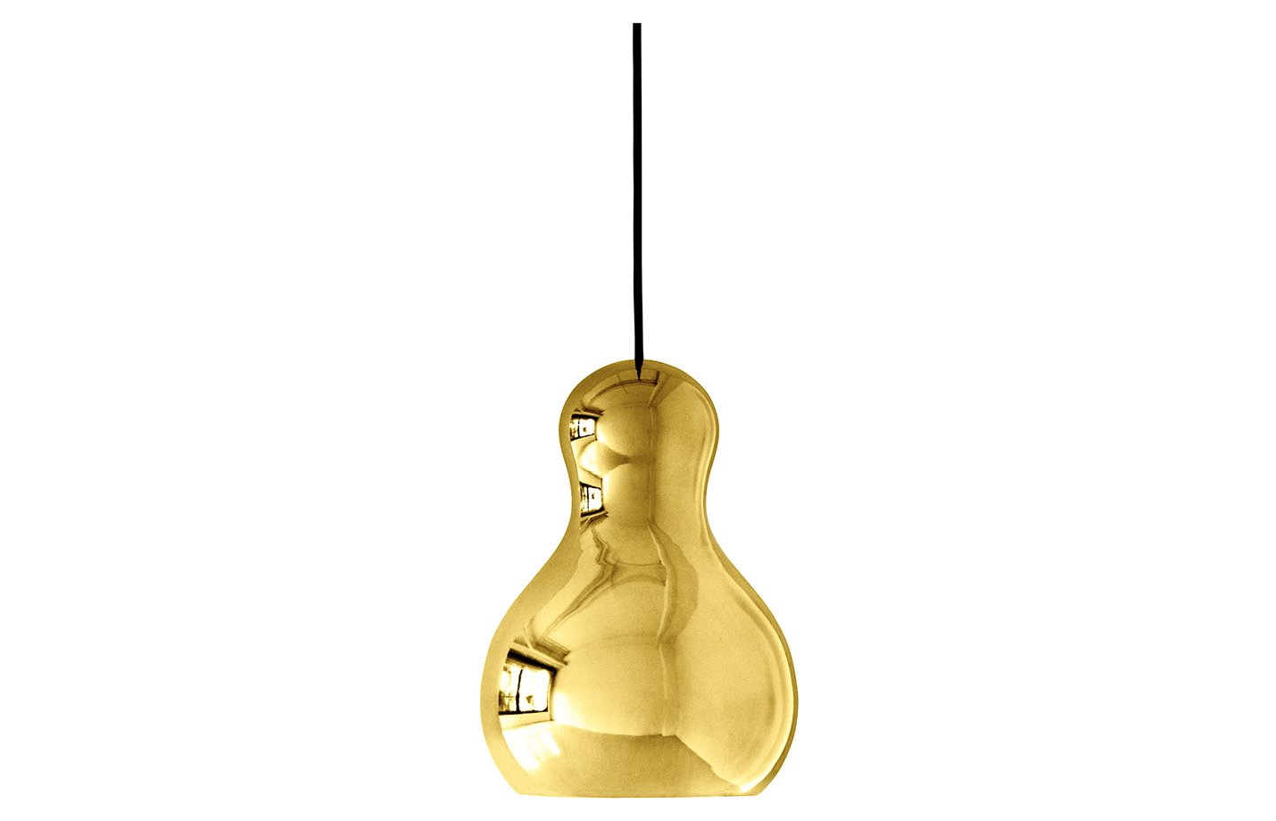 Calabash pendant light – Gold