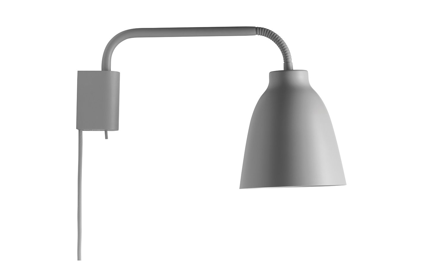 Caravaggio read wall lamp – Grey