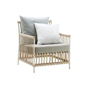 Caroline chair - Lounge - Alu Rattan - Dove white