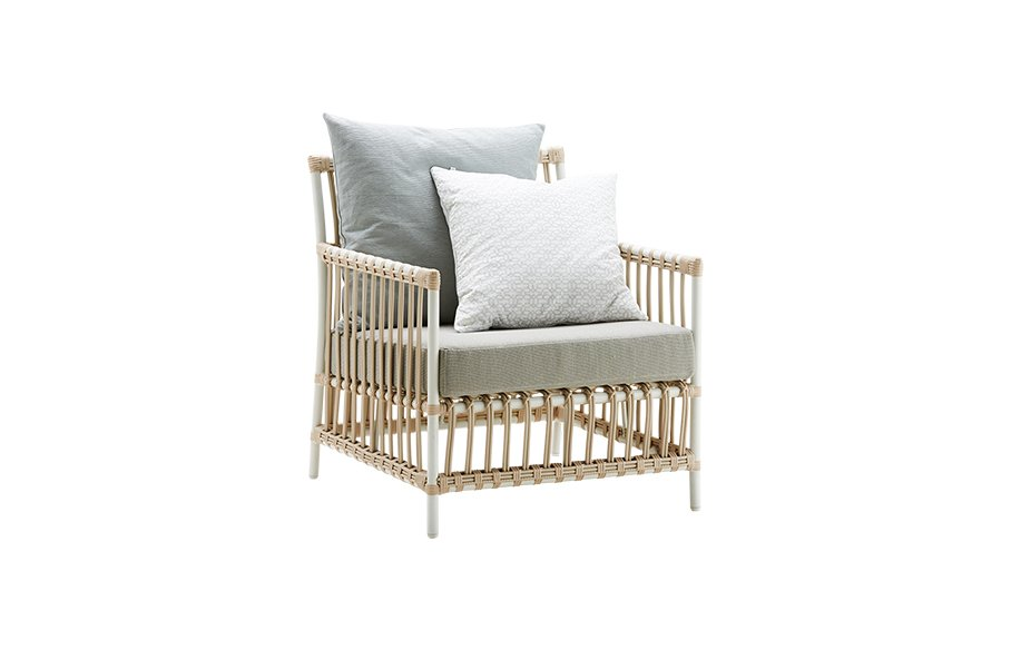 Caroline chair – Lounge – Alu Rattan – Dove white