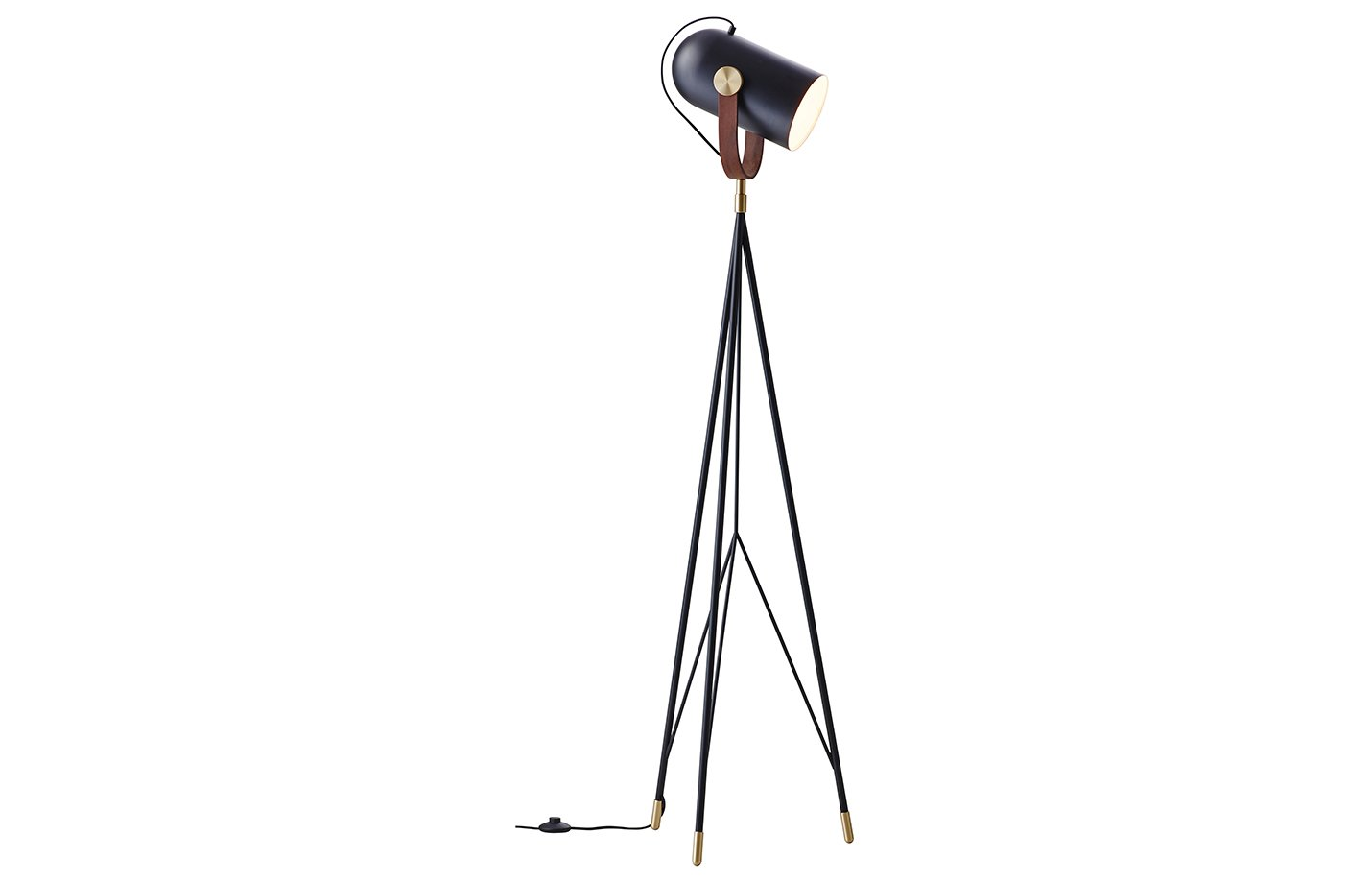 Carronade floor lamp – black – sand