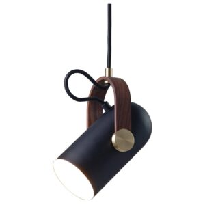 Carronade spot pendant light - black - sand