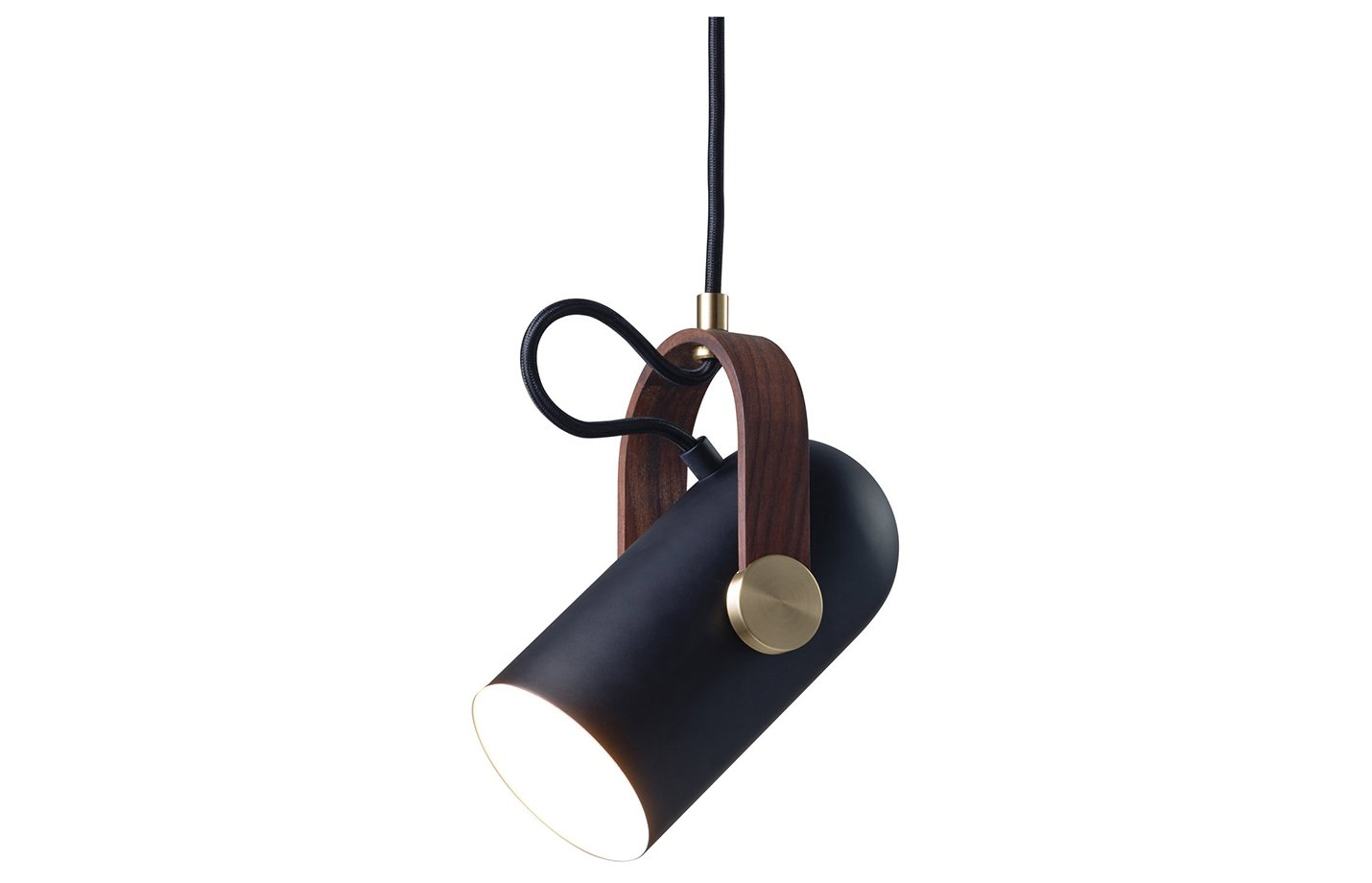 Carronade spot pendant light – black – sand