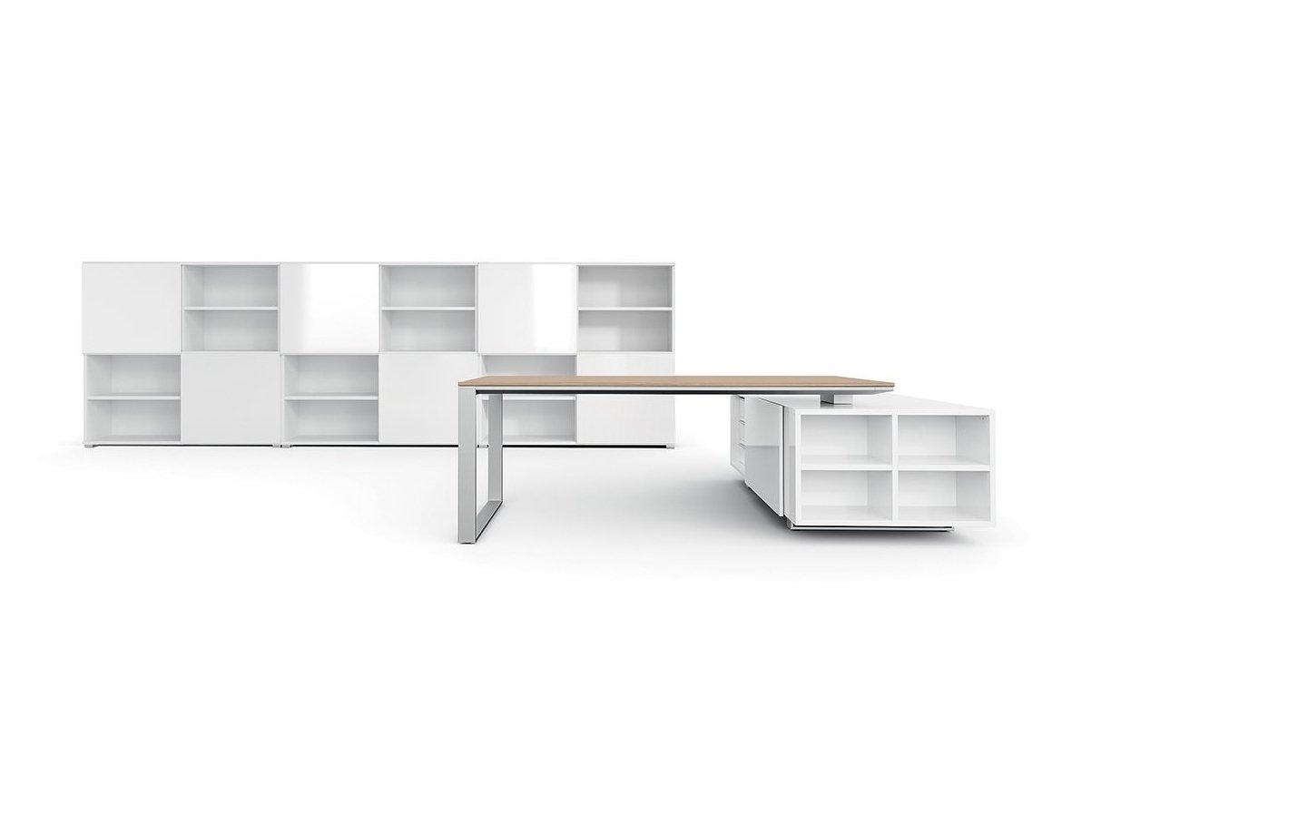 Castor executive desk – light – oak