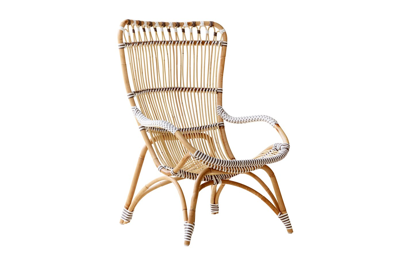 Chantal chair – Lounge – Alu Rattan – cappuccino