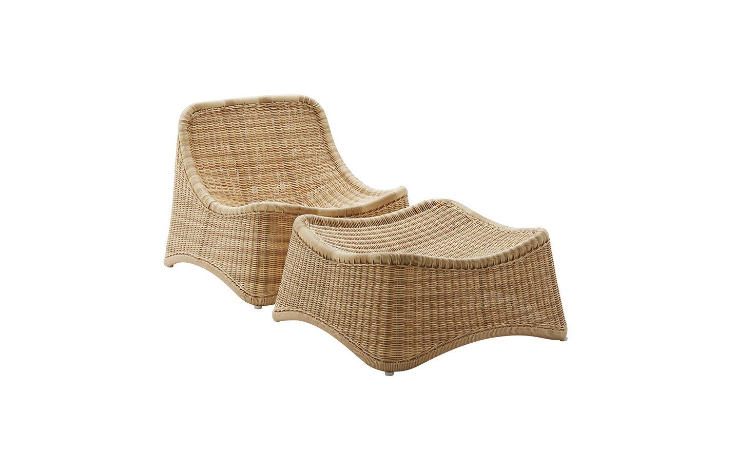 Chill lounge – alu Rattan – natural