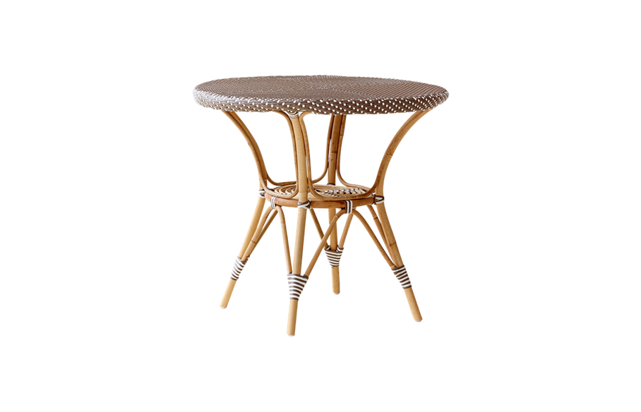 Danielle café table – Rattan – Medium – Cappuccino