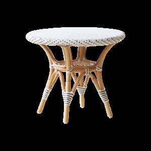 Danielle side table - Rattan - Small - White