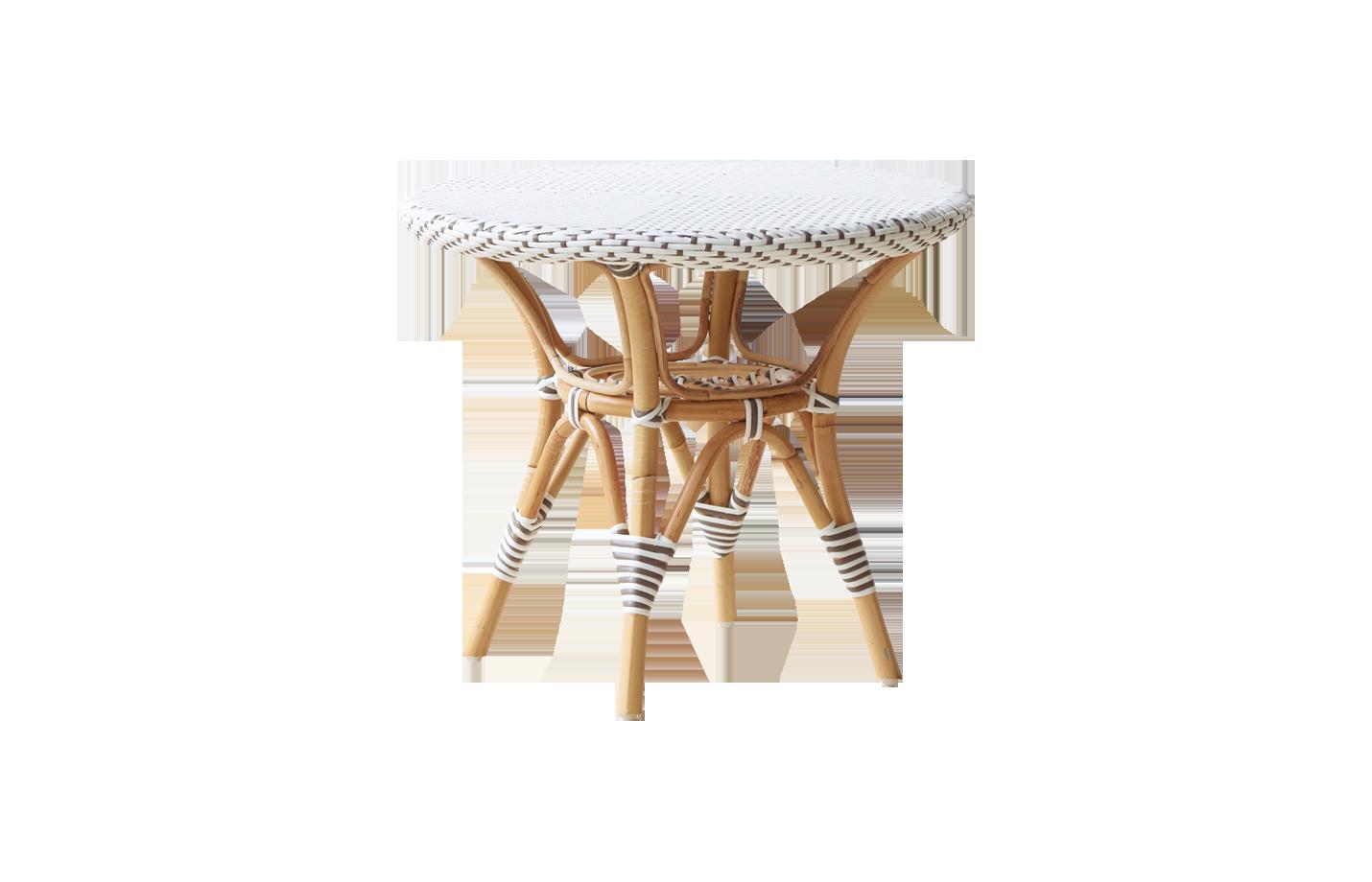 Danielle side table – Rattan – Small – White