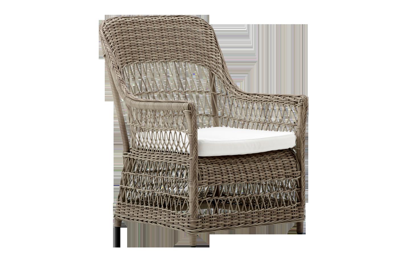 Dawn chair – cushion – Rattan – antique