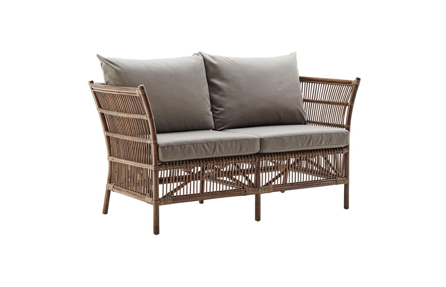 Donatello sofa with cushion – rattan – antique