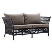 Donatello-sofa-with-cushion-rattan-black