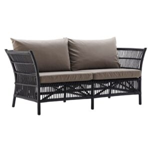 Donatello-sofa-with-cushion-rattan-black
