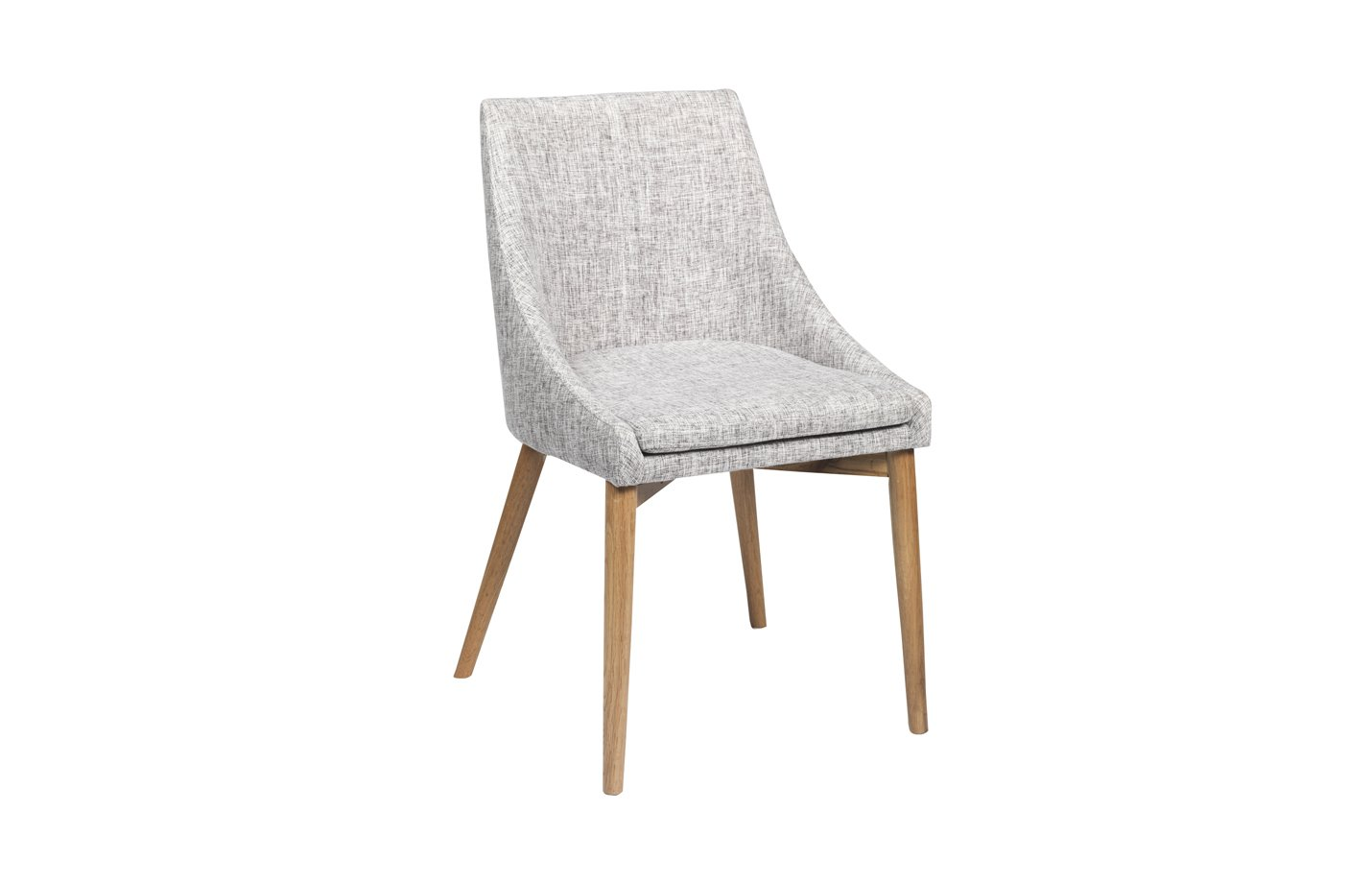 Donna chair – Oak – Grey – fabric