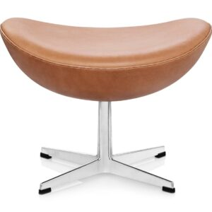 Egg footstool - leather - Tan
