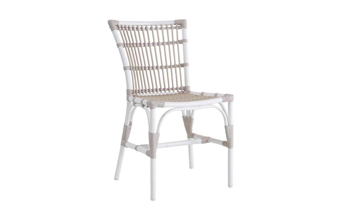 Elisabeth chair – Alu rattan – dove – white