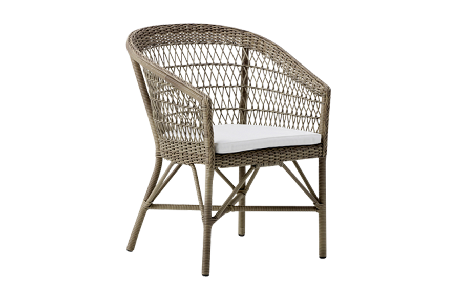 Emma chair – cushion – Rattan – antique