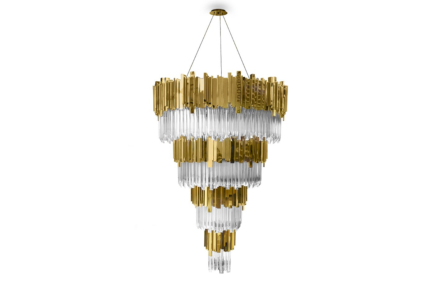 Empire chandelier light crystal – Gold