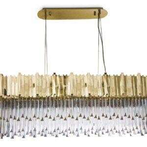 Empire snooker chandelier light crystal - Gold