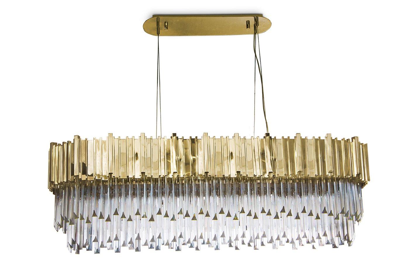 Empire snooker chandelier light crystal – Gold