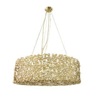 Eternity chandelier light - crystal - gold