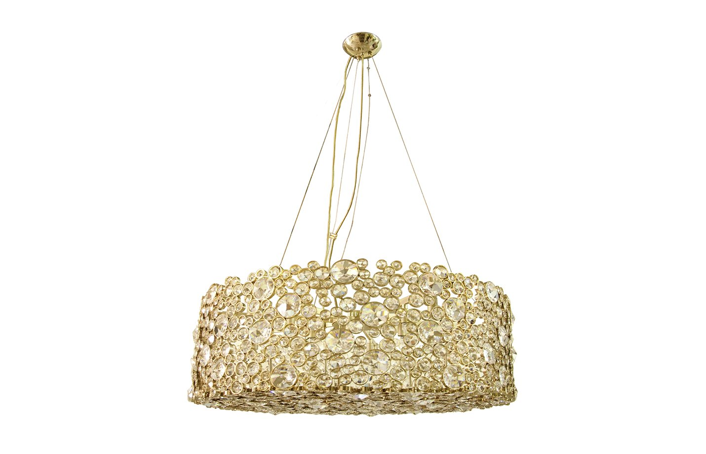 Eternity chandelier light – crystal – gold