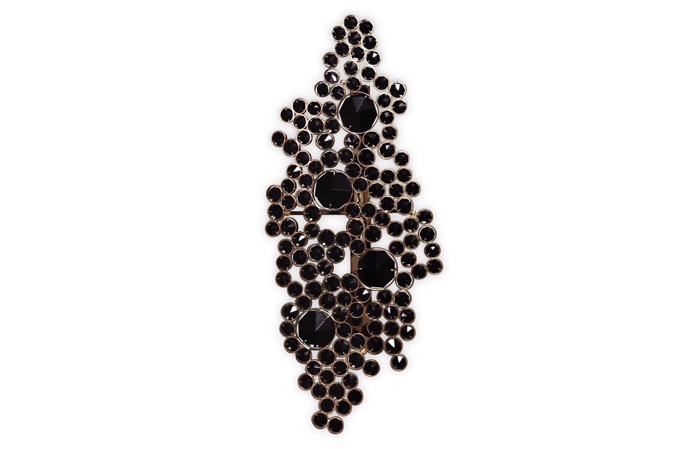 Eternity wall light – brass – Black