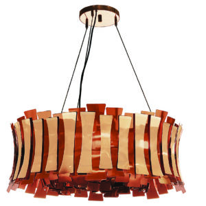 Etta round chandelier light - Copper