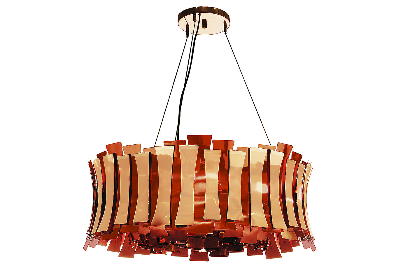 Etta round chandelier light – Copper