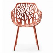 FOREST-Armchair-Coral-Red