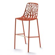 FOREST-bar-stool-large-Coral-red