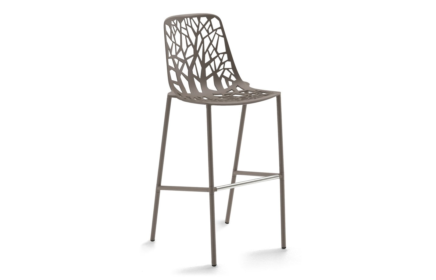 FOREST bar stool – large – Pearly gold