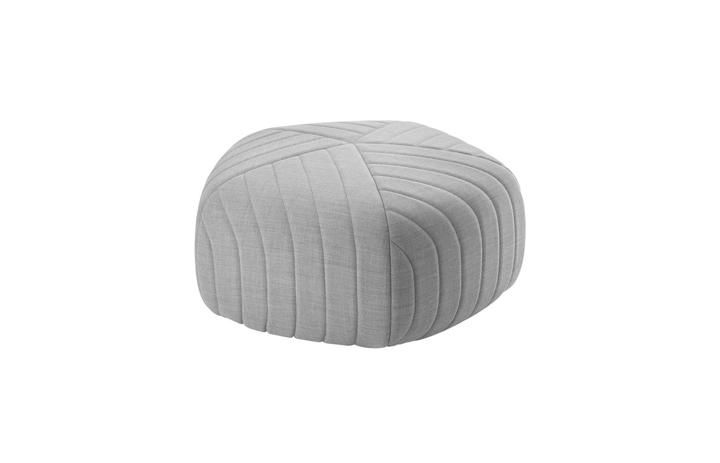 Five pouf – ottoman – light grey