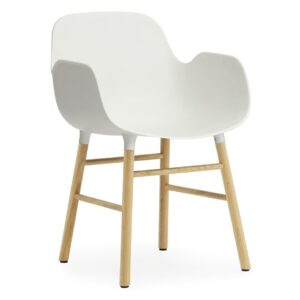 Form armchair - oak - white