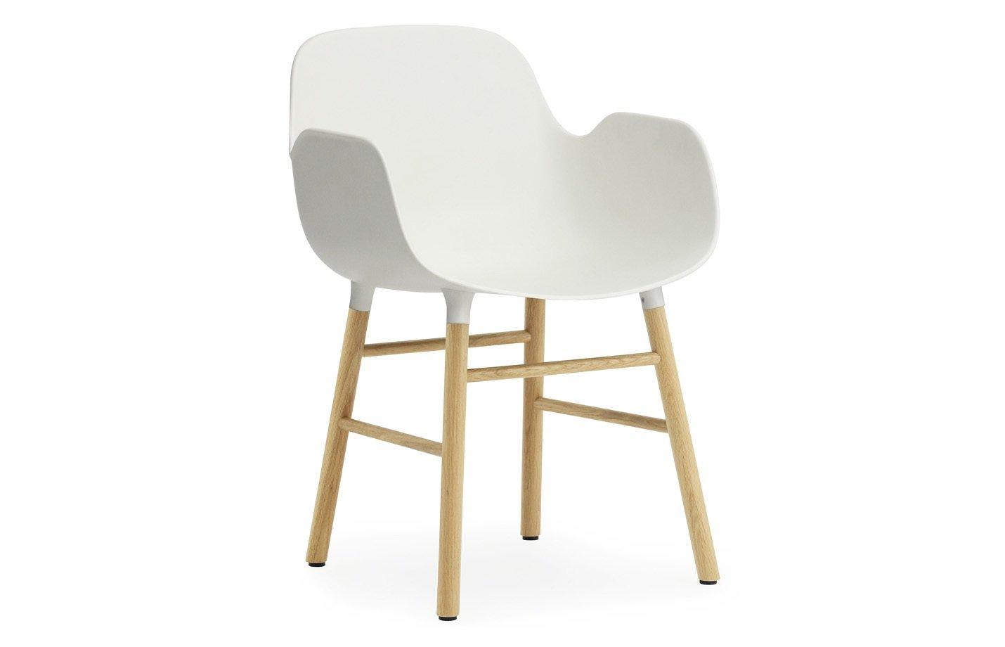 Form armchair – oak – white