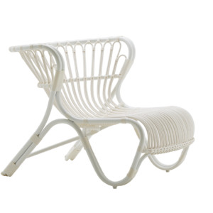 Fox chair - Lounge - Alu Rattan - Dove white